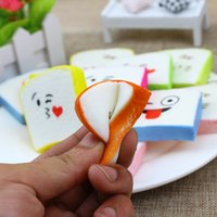Wholesale Squishy Cartoon Toasts - Colorful slow rebound to ease the pressure of lovely expression squishy toast bread prime bear key