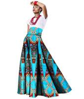 Wholesale Long Printed Skirts For Women - Summer African Women Clothing Long Maxi Dashiki for Women Bazin Riche Robe Longue Femme Plus Size Print Cotton Skirt Wy1063