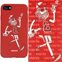 Wholesale Wholesale Old Mobile - Vodex cases Old man 8 Fluorescent Water Sticker Mobile Case 3D Relief for iPhone7 plus cases