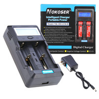 Wholesale Aa Rechargeable Charger Ni Mh - Nokoser 2 Slot Digital LCD Intelligent Smart Battery Charger for Rechargeable AA AAA Ni-MH Ni-Cd Li-ion Power Bank V2661