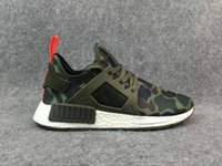 Wholesale Canvas Shoes Black Colour - Drop Shipping With Box 12 Colours NMD XR1 Mastermind X Camo Army Green For Men Women Running Shoes
