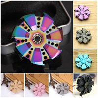 Big Kids spinning top rose - Hand Spinners Camouflage Metal Finger Toy Rose Turbine Fidget Spinner Anxiety Stress Relief Focus Spinning Top Colorful