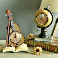 Wholesale Antique Cabinet Bars - Wholesale-Europe Retro Telephones Violin Desk Table Clocks Creative Globe Suitcase Saks Model sitting room TV cabinets Bar Cafe Decor