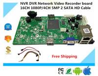 Wholesale 4ch Hd Video Recorder - NVR DVR Network Video Recorder board 16CH 1080P 4CH 5MP 2 SATA HD Cable Onvif P2P Cloud XMEYE CMS Motion deection NBD7816R-F-V2