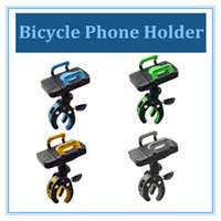 Barato Suporte De Telefone Para Bicicleta-Universal Bicycle Phone Holder Bike Mount Stand Cradle com Silicone Bandage Antiskid 360 Degree Rotation Retail Package