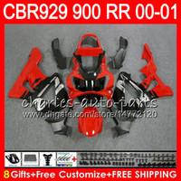 Wholesale fairings for honda 929 resale online - Body For HONDA CBR RR CBR900RR CBR RR CBR929RR top Red silver NO27 CBR900 RR CBR RR CBR929 RR Fairing kit Gifts