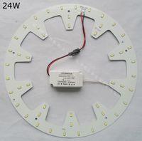 Wholesale Down Lights Kit - Replace 50W fluorescent tube DIY round 24W LED Down light kits panel PCB led disc techo 2D circular tube 120V 220V 230V 240V