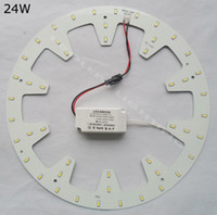 Wholesale Replace W fluorescent tube DIY round W LED Down light kits panel PCB led disc techo D circular tube V V V V