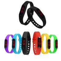 Led Digital Display Touch Screen Relógios Silicone Rubber Bracelets Wristwtch Girl Boy Children Unisex Gift Relógios
