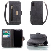 Para iphone X 7 Plus 6 6S Galaxy Not8 Nota 8 S8 Crocodilo Leather Wallet Case Snake Zipper ID Card Slot Strap Flip Pouch Patterned Business