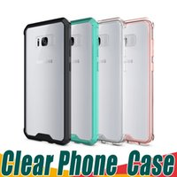 Wholesale Hard Plastic Pc Case Crystal - Ultra-thin Soft TPU Hard PC Clear Case Cover Crystal Transparent Hybrid Cases For iPhone X 8 7 6S Plus Samsung Note 8 S8 Plus S7 Edge