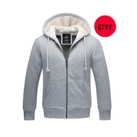 Wholesale Hooded Add Wool - New Arrival Man jackets Add Wool High Quality Long Sleeve Hooded Pullover Sweatshirts Coats Free Shipping