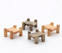 Wholesale Using Moq - 30pcs MOQ wholesale free shiping mini resin reminiscent retro bridge arden fairy miniature used in garden river decoration