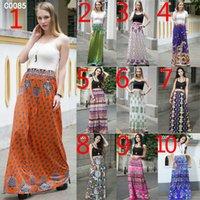 Wholesale Floral Definition - 2017 New European and American women skirt Spring and summer high - definition digital printing dress High waist big skirt