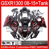 Wholesale hayabusa red - 8Gifts 23Colors For SUZUKI Hayabusa GSXR1300 08 09 10 11 12 13 14 15 19NO56 red flames GSX R1300 GSXR 1300 2012 2013 2014 2015 Fairing Kit