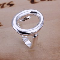 Wholesale O Rings Jewelry - hot sale Opening O sterling silver jewelry ring for women WR008,fashion 925 silver Band Rings