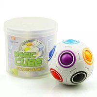 Wholesale Rainbow Ball Magic Football Magic Speed Cube Puzzle Children Educational Toys GMF For Baby Kids Funny Toy Birthday Gifts