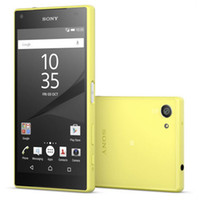Wholesale Refurbished Original Sony Z5 Compact E5823 inch Octa Core GB RAM GB ROM MP Camera G LTE Unlocked Android Smart Phone DHL