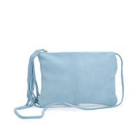 Wholesale Wholesale Navy Leather Handbag - Original fashion designer real leather shoulder bags for women small crossbody bag ladies handbag with tassels Free Shipping
