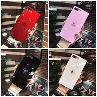 Wholesale Iphone Case Cover Chain - Luxury Charming CC Compact Famouse Powder Style case cover for iPhone 6 6s 6Plus 7 7Plus 8 Plus Back Cover with Chain Strap