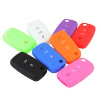 Wholesale Golf Bag Cover - Silicone Vehicle Car Key Cover Case Bag Shell for Bora Jetta for POLO GOLF Passat for Skoda Superb Octavia A5 Fabia SEAT AUP_412
