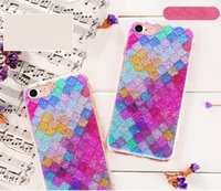 Rainbow Color Colorido 3D Scales Squama Bling Glitter Shining Sparkle Crystal Clear Capa de capa de gel suave para iPhone X 8 Plus 7 6 6S 5 5S SE