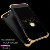 Wholesale Iphone Aluminum Border Case - Metal Aluminum Border Frosted PC Back Cover Case For Apple iPhone 6 6S Mobile Phone Cover