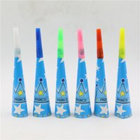 Wholesale Crown Baby Shower Favors - Wholesale-kids boys prince blue crown birthday have fun noisemaker horn trumpet toys party supplies baby shower favors 12pcs