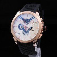 Wholesale Clock Pointer - 2017 luxury fashion men's multi-function quartz watch PU motion clock small pointer can work high quality free shipping
