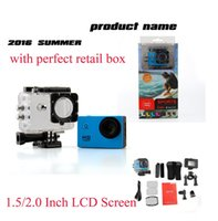 Wholesale Used Lcd Led Wholesale - WHOLESALEcopy for SJ400 SJ4000 A9 style 2 Inch LCD Screen mini camera 1080P Full HD Action Camera 30M Waterproof Camcorders Helmet Sport DV