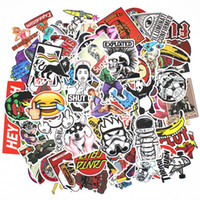 pegatinas de vinilo al por mayor-400Pcs Monopatín Vinilo Pegatina Skate Graffiti Laptop Bag Car Bomb Decal Lote