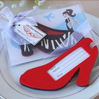 Wholesale First Class Shipping - Wedding Favors First Class Fashionista High Heel Luggage Tag Creative gifts PVC box packing + FREE SHIPPING
