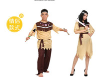 trajes originais do carnaval venda por atacado-FASHION Homens Mulheres Africano Original Indiano Savage Costume Selvagem Cosplay Halloween Fantasias de Carnaval Vestido Extravagante Decoração Do Partido