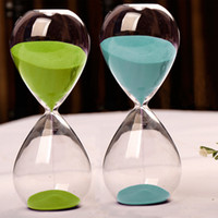 Wholesale contemporary art fashion - Fashion 15 Minutes Contemporary Clear Glass Sand Hourglass Timer Art Decorative 15 Minute Sandglass Timer Clock Birthday Gift