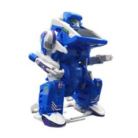 blue development - 3 in Solar Power Robot generation robot Kit Toy Educational and Fun intelligence development education learning DIY circuit assembly blue