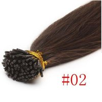 Wholesale Peruvian Hair I Tip - Mink Brazilian I-tip U-tip Hair Extensions 100pcs Pack Straight Keratin Brazilian Hair Extensions #2 #4 #613 Peruvian Malaysian