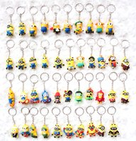 Wholesale Images Boy Accessories - Hot sale wholesale 50pcs cartoon animation image key chain fashion bag accessories children lovely small gifts free shipping 449