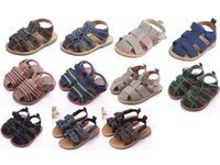 Wholesale Soft Pre Walkers - 11Designs Infant Shoes 2017 Newly Baby Boys Outdoor Shoes Toddler PU Sandals Baby Pre-Walkers By DHL