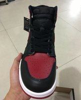 Wholesale Air Shoe Brand - Wholesale air Retro 1 OG High Banned black red white men basketball shoes women sports shoes athletic trainers brand sneakers size 36-47