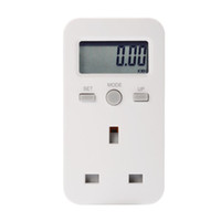 uk monitörler toptan satış-LCD Dijital Plug-in Güç Ölçer Enerji Monitör Elektrik Kullanımı Izleme Analizörü Soket İNGILTERE Tak BI680-SZ