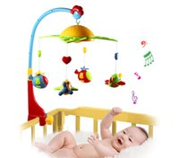 360 Degrees Rotating Baby Rattles Baby Musical Star Projetor Pendurado Bell Berço Rattle Toy Music Light Flash Bed Ring Rattle Toy Music + NB