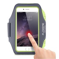 Para o iPhone 7 plus Armband Case Touch Screen Gym Sports Armband Workout Adjust Cover para 4.7 5.5 polegadas Universal Phone Opp