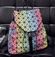Wholesale Girls Strings - Wholesale- F Women Backpack 2016 BaoBao backpack female Fashion Girl Daily backpack Geometry Package Sequins Folding Bags BAO BAO 9 color