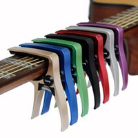Wholesale acoustic guitar materials for sale - Group buy Guitar Capo for acoustic and electric guitars Total aluminium material Guitar Accessories