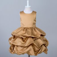 Wholesale Satin Ruffle Baby Dress - 2017 New Direct Selling Patchwork Cotton Mesh Baby Dress Girl Dress Summer 0-3 Year Old Korean Vest Children Baby Princess Tide