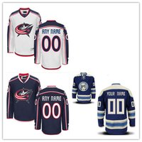 Wholesale Hockey Jersey Customized - Stitched Custom Columbus Blue Jackets mens womens youth Home royal Blue White Customized navy Third Personalized Hockey cheap Jerseys S-4XL