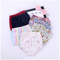 Wholesale Matching Underwear - 7 Style Summer Baby Shorts 2017 New Flower Printe Girls Underwear Stripe Floral All-match Kids Bottoms Fashion Children PP pants C591