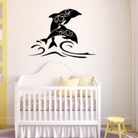 Hot Sale Salto Dolphin Art Mural Wall Decal PVC Removable Cartoon Animal Wall Stickers para Sala Quarto Quarto e Kids Room Decoration