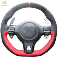 Wholesale vw polo mk6 for sale - Group buy Mewant Black Suede Black Red Leather Car Steering Wheel Cover for Volkswagen Golf GTI MK6 VW Polo GTI Scirocco R