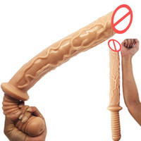 Wholesale Sex Novelties - Large Dildo with Handle New Design Sex Toys Huge Penis Masturbators Dong Ultra Long Big Adult Sexual Novelty BDSM Game Equipment